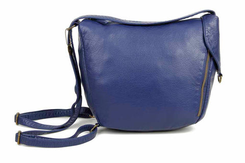 The Joia Convertible Sack Crossbody - Navy Blue - Ampere Creations