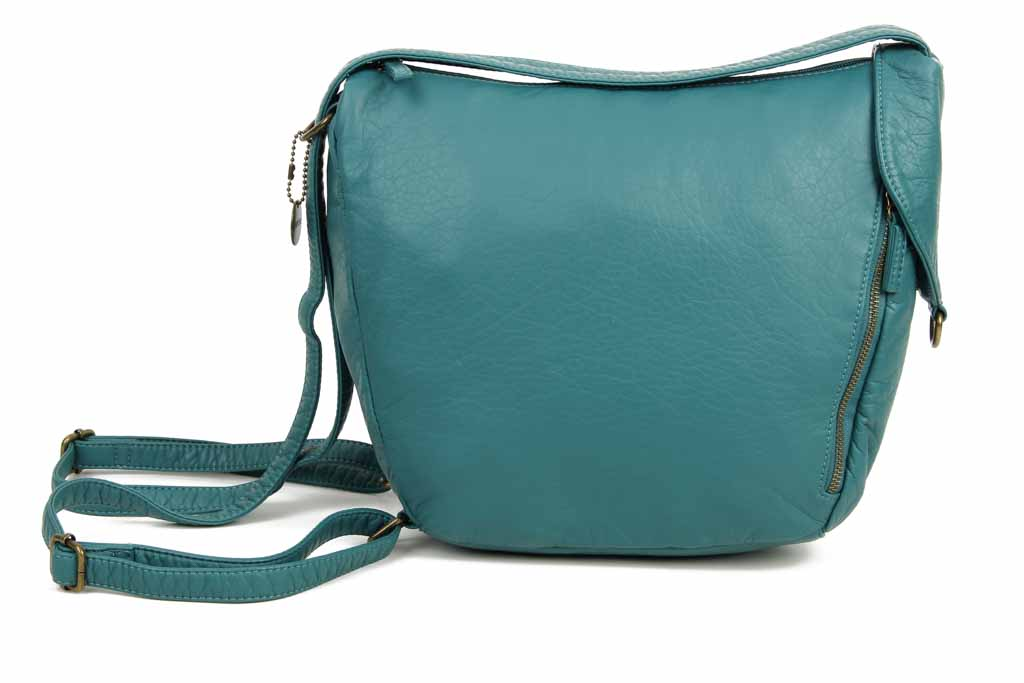 The Joia Convertible Sack Crossbody - Teal