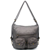 Mini Convertible Backpack - Dark Silver