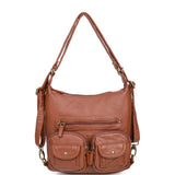 Mini Convertible Backpack - Brown - Ampere Creations
