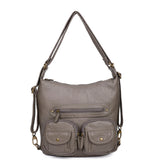 Mini Convertible Backpack - Dark Grey - Ampere Creations