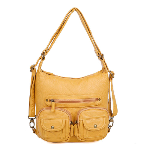 Mini Convertible Backpack - Mustard - Ampere Creations