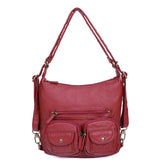 Mini Convertible Backpack - Burgundy - Ampere Creations