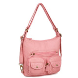 Mini Convertible Backpack - Rose Pink - Ampere Creations