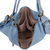 Convertible Crossbody Backpack - Baby Blue - Ampere Creations