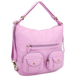 Convertible Crossbody Backpack - Light Purple - Ampere Creations