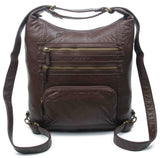 The Lisa Convertible Backpack Crossbody (Multiple Colors) - #B334