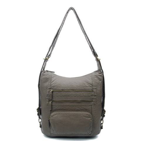 The Lisa Convertible Backpack Crossbody - Dark Grey - Ampere Creations
