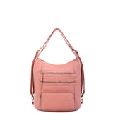 The Lisa Convertible Backpack Crossbody - Peach - Ampere Creations