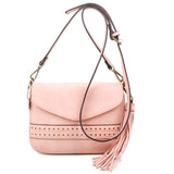The Audry Crossbody - Pastel Pink - Ampere Creations