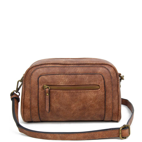 The Aime Crossbody - Brown - Ampere Creations