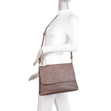 Savannah Crossbody - Taupe - Ampere Creations