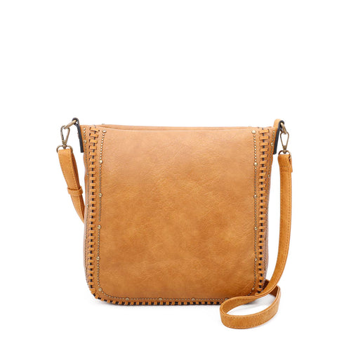 Shelby Crossbody - Light Brown - Ampere Creations