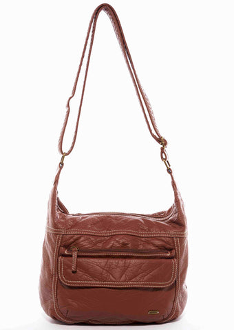 The Angelina Crossbody - Brown - Ampere Creations