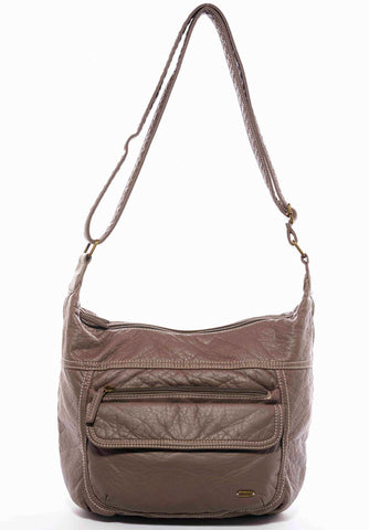 The Angelina Crossbody - Dark Grey