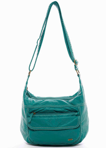 The Angelina Crossbody - Teal - Ampere Creations