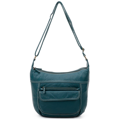 The Angelina Crossbody - Forest Green