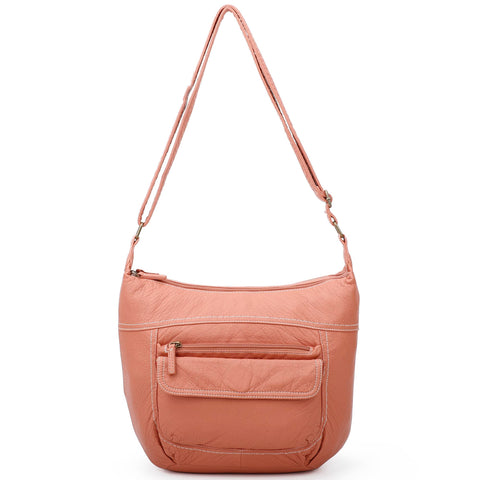 The Angelina Crossbody - Peach
