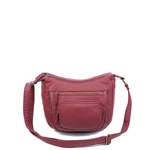 The Alison Crossbody - Burgundy - Ampere Creations