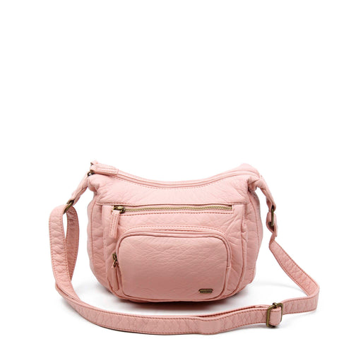 The Alison Crossbody - Petal Pink - Ampere Creations