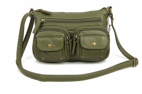 The Bethany Crossbody - Army Green - Ampere Creations