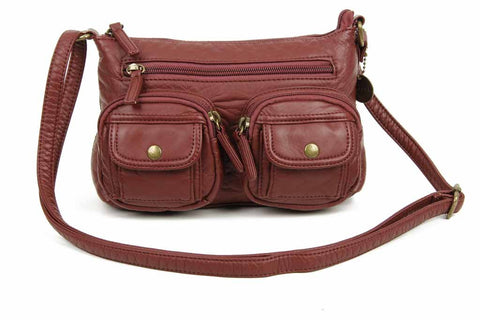 The Bethany Crossbody - Burgundy - Ampere Creations