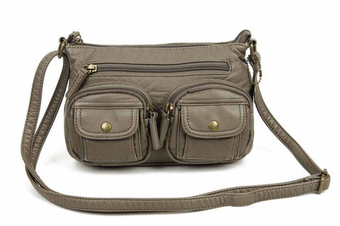 The Bethany Crossbody - Dark Grey