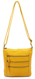The Camile Three Zip Crossbody - Honey Mustard - Ampere Creations