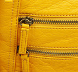The Camile Three Zip Crossbody - Honey Mustard