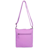 The Camile Three Zip Crossbody - Light Purple - Ampere Creations