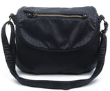 The Large Bonnie Saddle Crossbody - Black