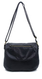 The Large Bonnie Saddle Crossbody - Black - Ampere Creations
