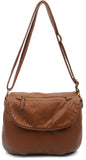 The Large Bonnie Saddle Crossbody - Brown