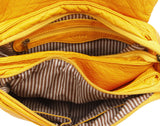 The Large Bonnie Saddle Crossbody - Honey Mustard - Ampere Creations