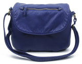 The Large Bonnie Saddle Crossbody - Navy Blue