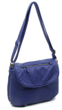 The Large Bonnie Saddle Crossbody - Navy Blue - Ampere Creations