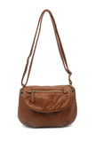 The Small Bonnie Saddle Crossbody - Brown