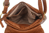 The Small Bonnie Saddle Crossbody - Brown - Ampere Creations