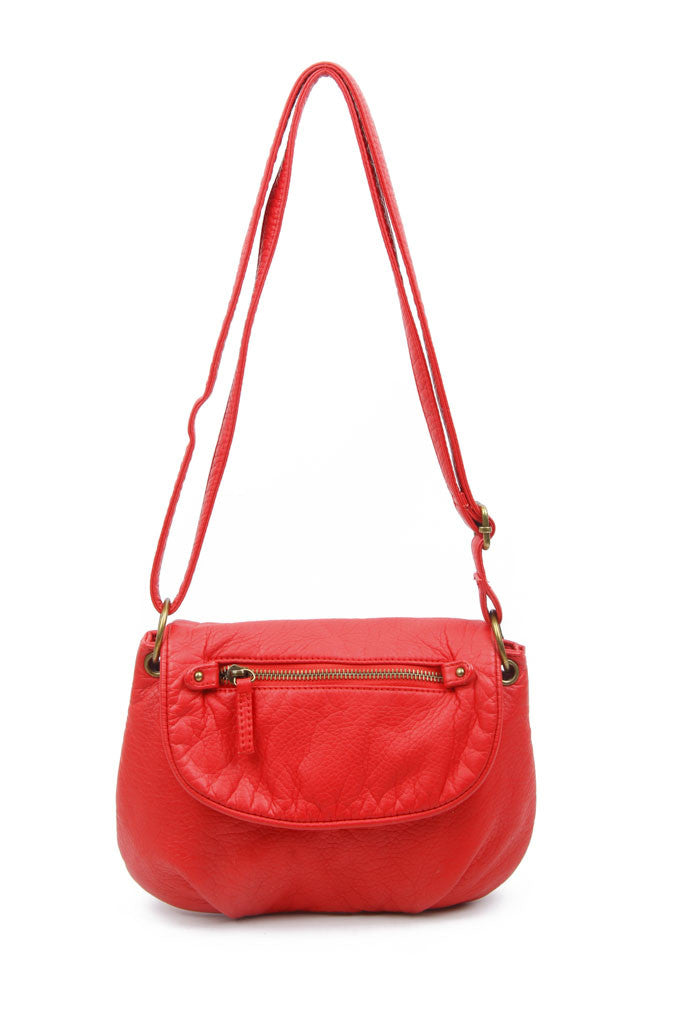 The Small Bonnie Saddle Crossbody - Poppy Red