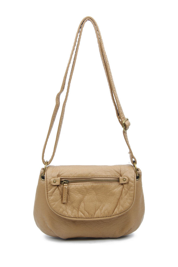 The Small Bonnie Saddle Crossbody - Sand - Ampere Creations