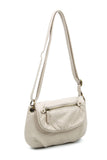 The Small Bonnie Saddle Crossbody - Taupe - Ampere Creations