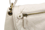 The Small Bonnie Saddle Crossbody - Taupe