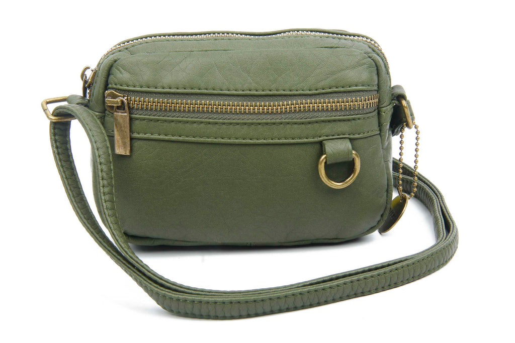 The Caroline Mini Crossbody - Army Green - Ampere Creations