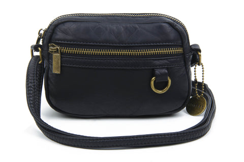 The Caroline Mini Crossbody - Black - Ampere Creations