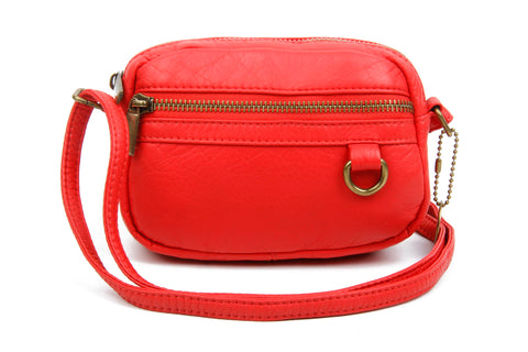 The Caroline Mini Crossbody - Poppy Red