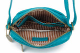 The Caroline Mini Crossbody - Teal - Ampere Creations