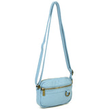 The Caroline Mini Crossbody - Baby Blue - Ampere Creations