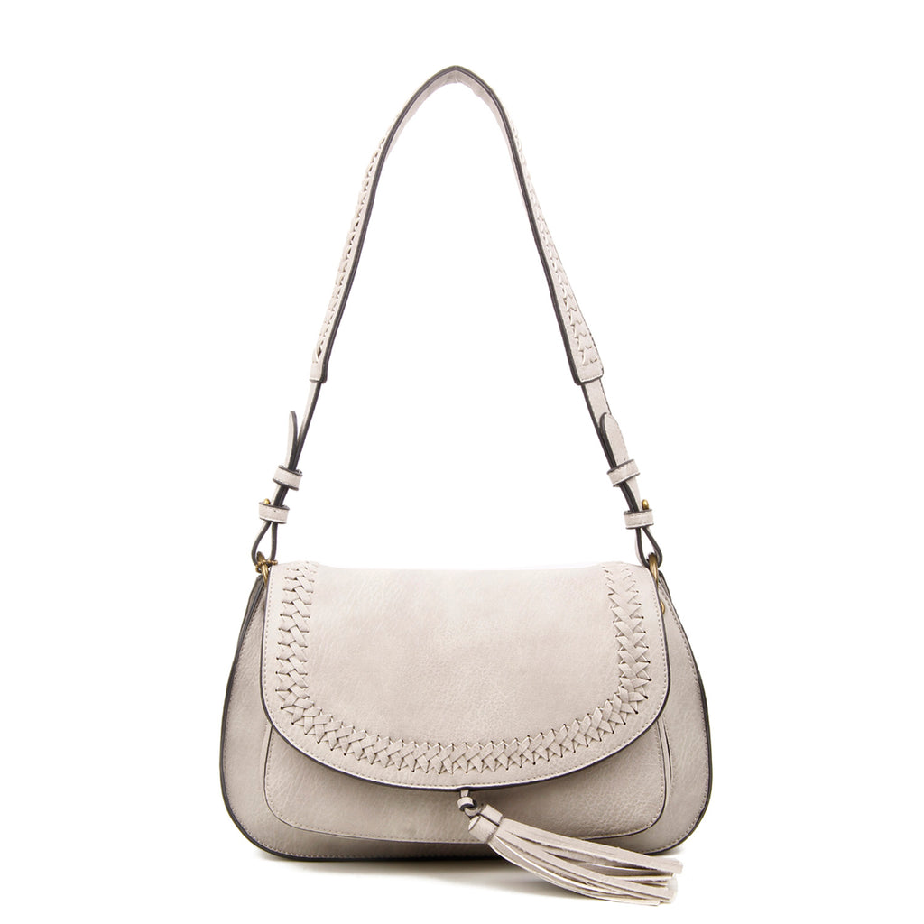 The Alice Saddle- Light Grey - Ampere Creations