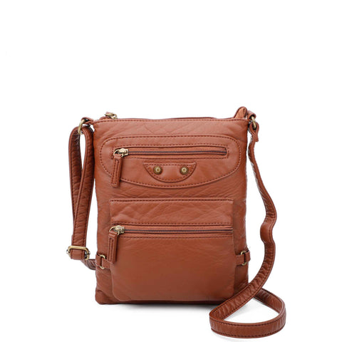 Jassy Crossbody - Brown - Ampere Creations