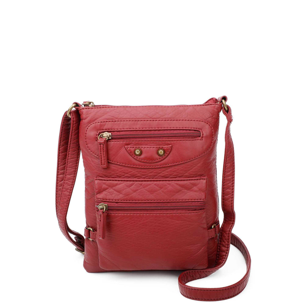 Jassy Crossbody - Burgundy - Ampere Creations